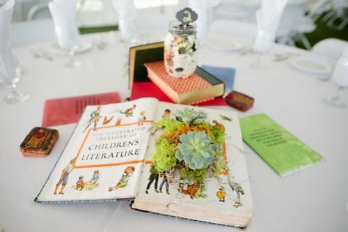 Childrens book centerpiece