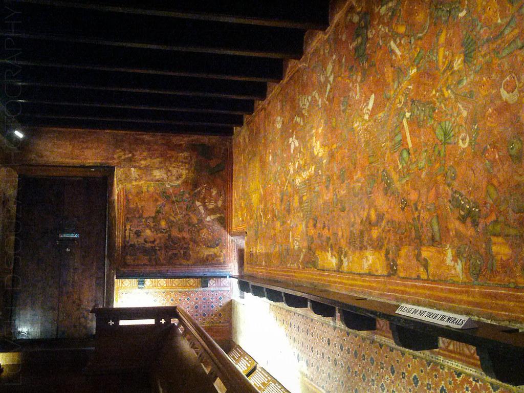Murals inside the Mattancherry Palace