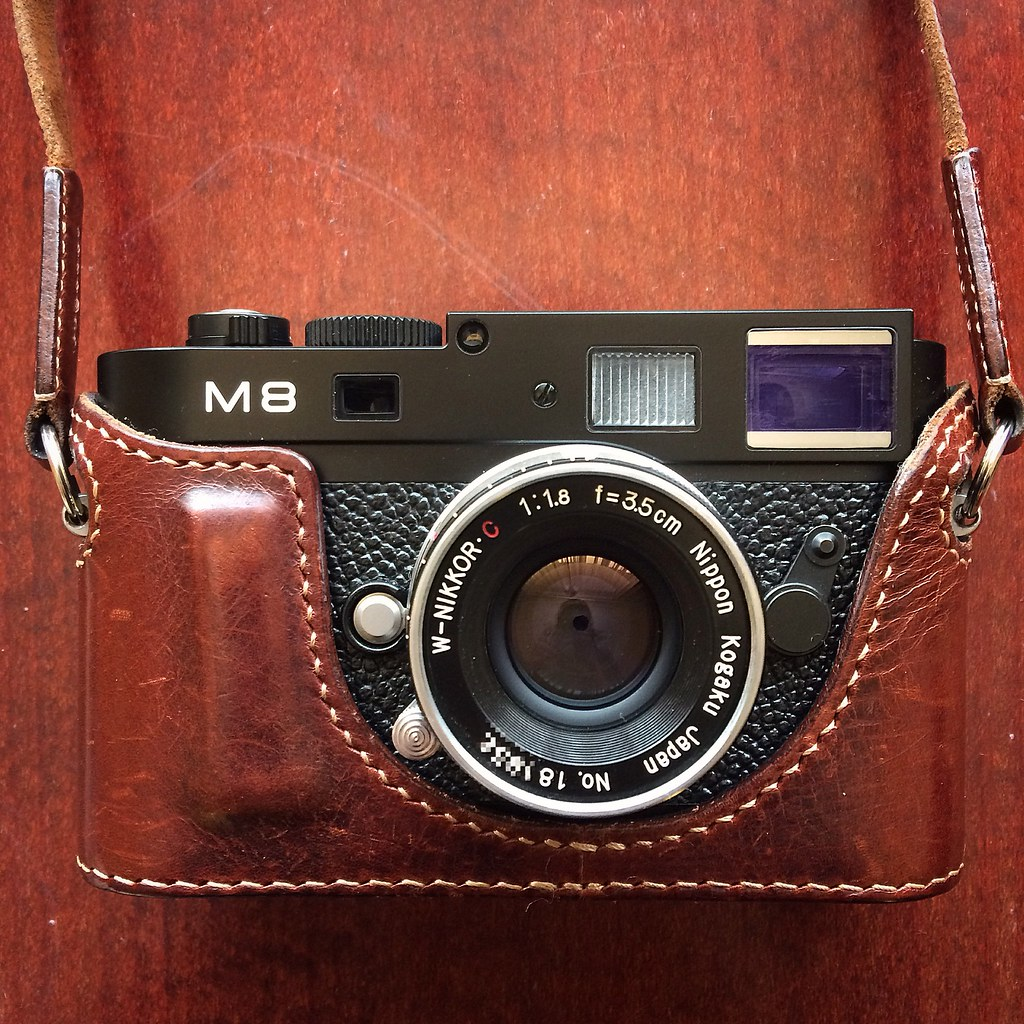 Arte Di Mano Half Case My Leica Nippon Kogaku For Wetzlar Trip With Aged Arte Flickr