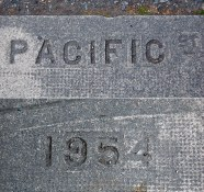 Name and date stamp of Pacific St – 1954