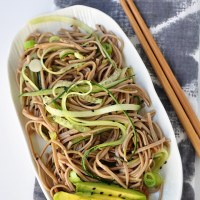 Soba Noodles with Cucumber & Avocado