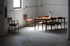 Superb Drexel Declaration Mid Century Modern Dining Table and Chairs (U.S.A., 1950's)