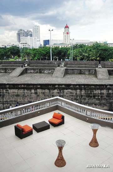 Our lens captured another take on Contrast on Old and New, a lounge deck from the modern The Bayleaf Hotel intersecting the views of the walls of Intramuros and the old Manila City Hall's clock tower.