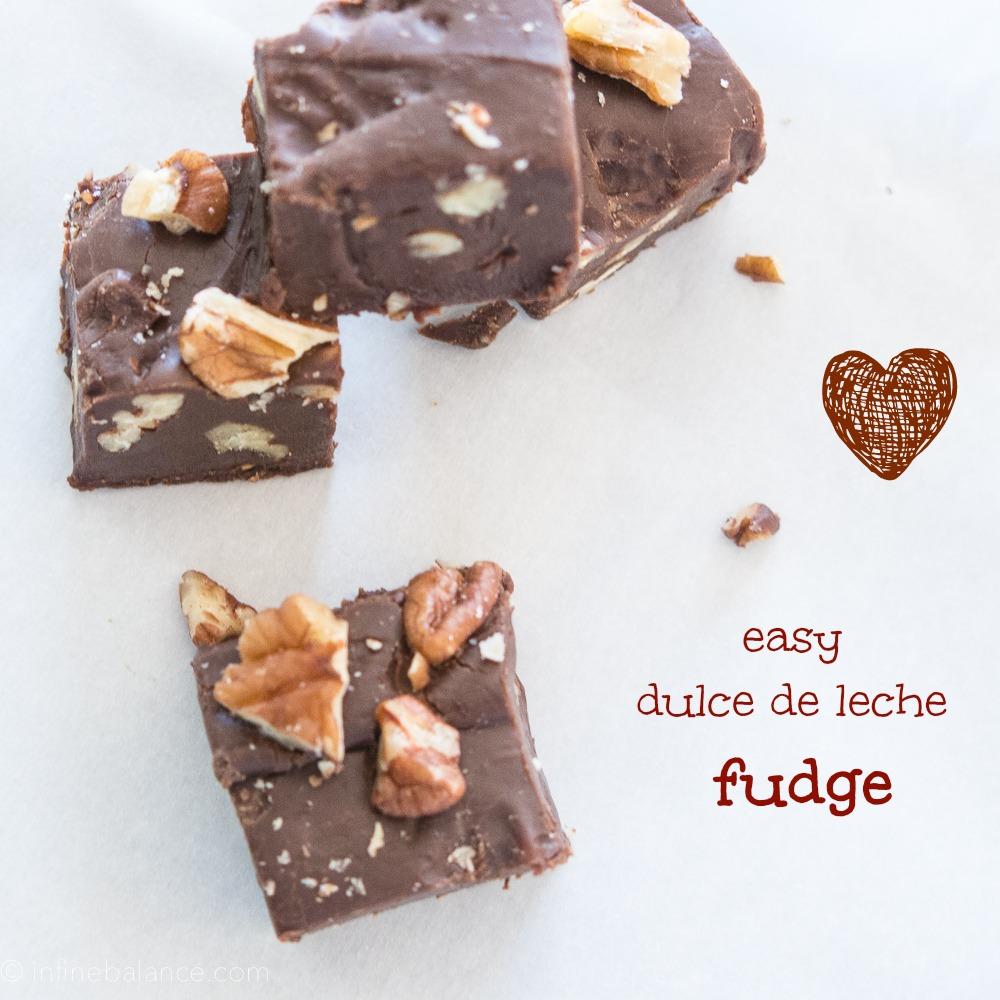 Dulce de Leche Fudge | infinebalance.com