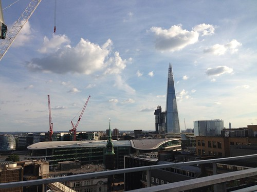 The Shard from the Sky Lounge, Tower Hill Double Tree Hilton Hotel