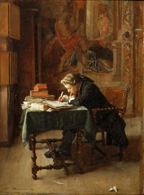New Tendency Jean-louis-ernest Meissonier - Young Man Writing [1852