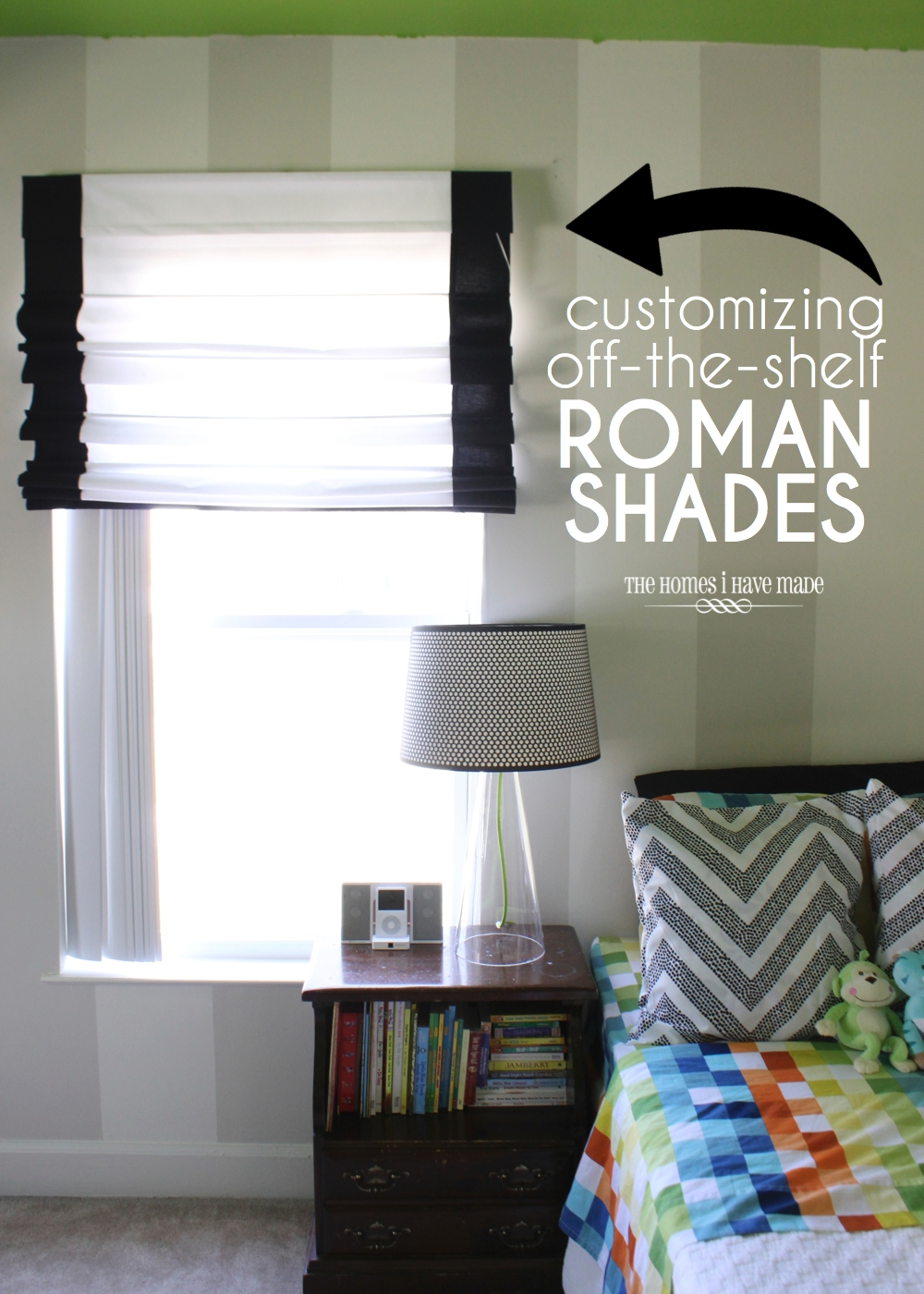 Diy Roman Shades Easy Customizing Off The Shelf Roman Shades The Homes I Have Made