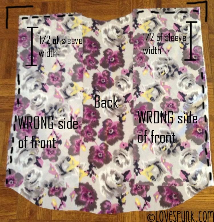 DIY Kimono Cardi Step 3
