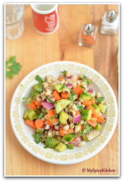Black eyed peas salad, blogging marathon, no carb salad, low carb salad, Legumes Salad