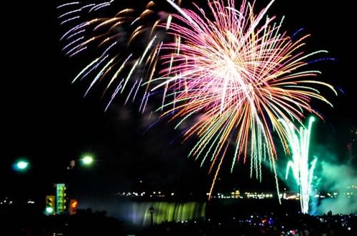 July 4 Fireworks Over Niagara Falls from Flickr via Wylio