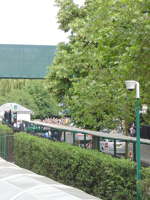 The queue arriving at Wimbledon