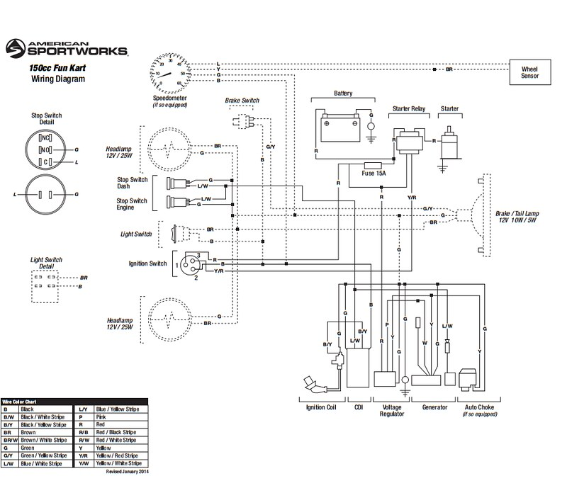 Diagram Besides Chinese Go Kart Wiring Diagram Also Hammerhead