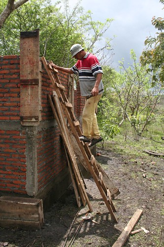 Juan, working on his roof