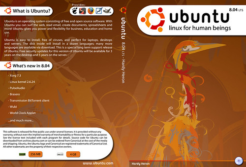 Ubuntu Hardy Heron CD Cover