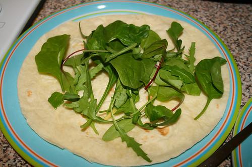Wrap and veggies