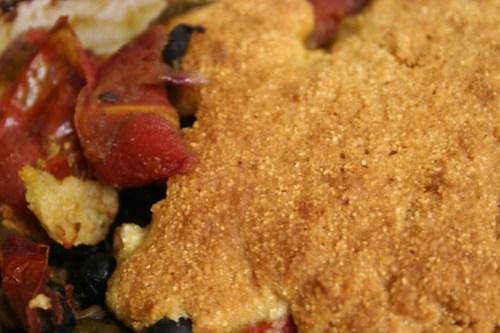 Cornbread and black bean casserole