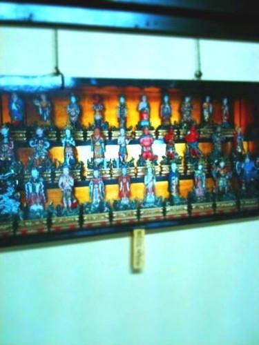 山門二階にある観音像の写真を撮った写真