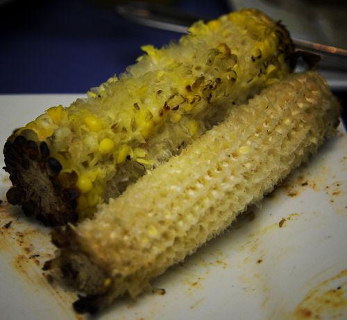 Messy corn, neat corn