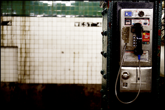 West 4th Subway Phone Booth New York - Tuukka13