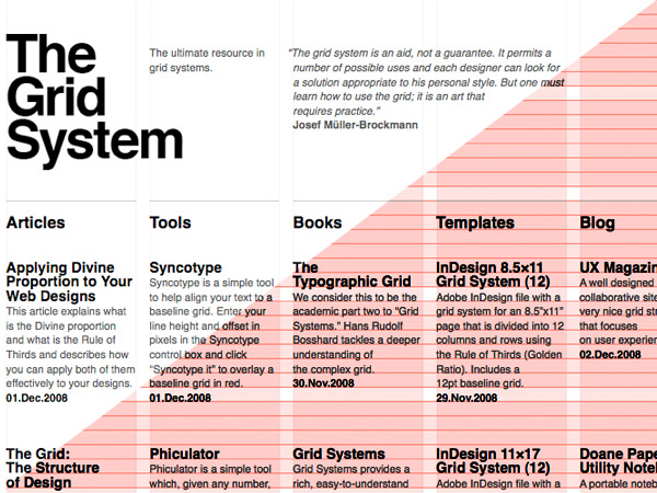 The grid system webpage Grids Pinterest - talent agent sample resume