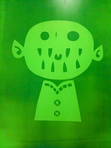 screenprinting class week 3: green
