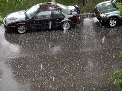 Hailstorm in Chicago