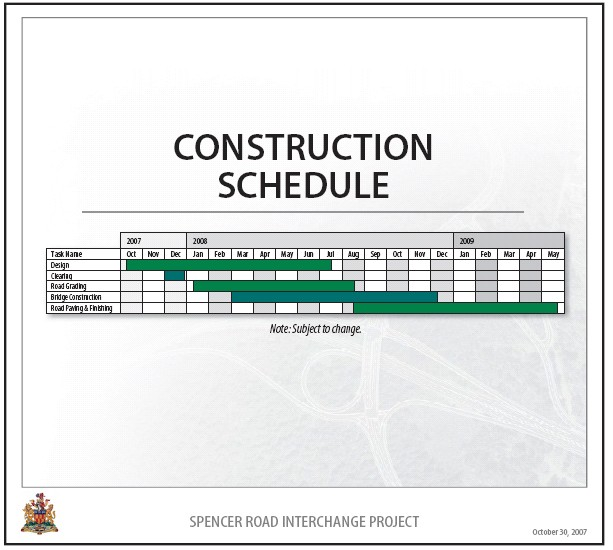 Road Construction Contract Template – Construction Schedule Template