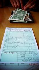 用英文寫的帳單