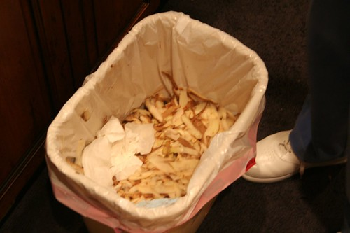 Trash can full of skins...