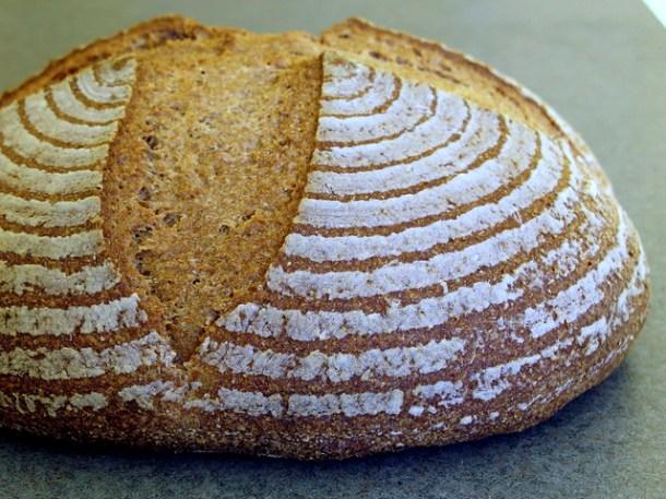 Sourdough whole-wheat boule