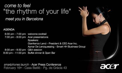 Acer MWC invite