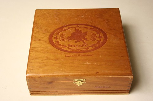 Cigar Box turned Correspondence Box