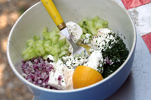 feta salad fixings