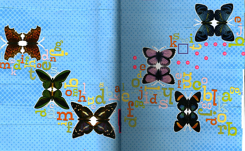 Weekly moleskin collage - March 11, 2009