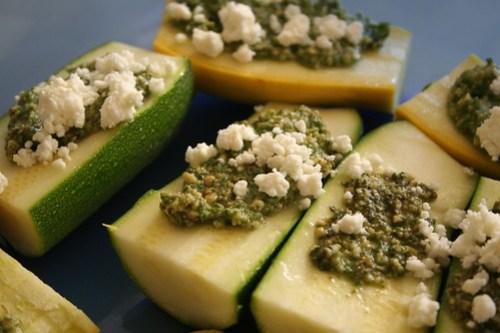 Pesto zucchini