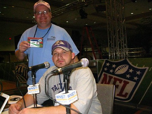 Ray and Drew on Radio Row in Tampa