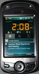 Custom HTC Mogul Home Screen