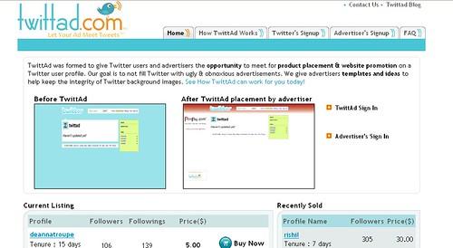 Twittad main page