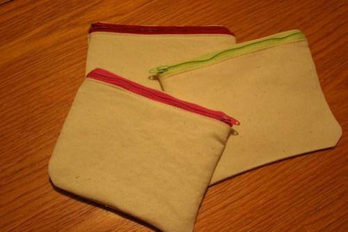 canvas pouches -- pre Monogram