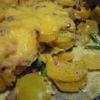 kartoffel-fisolen-auflauf mit hack