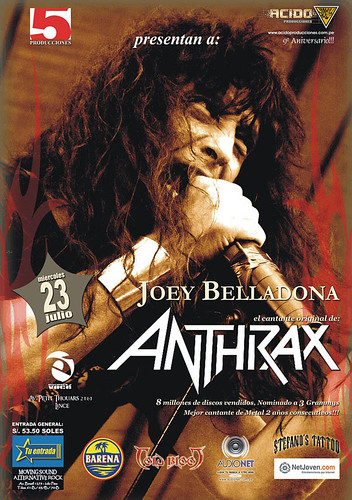 Afiche de Joey Belladona en Peru