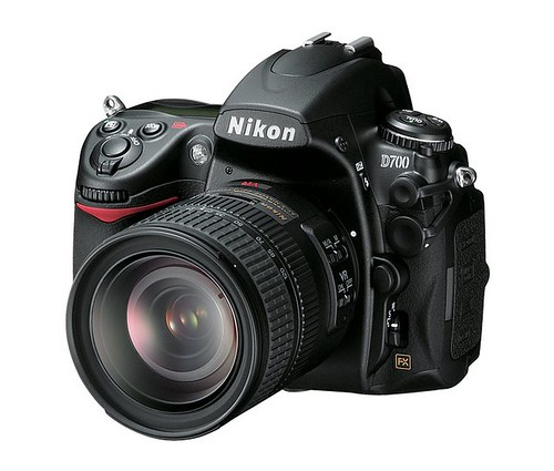Nikon D700 3/4 view