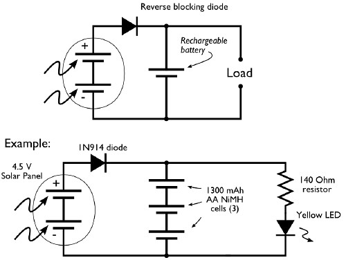 solar cell power system circuit diagram