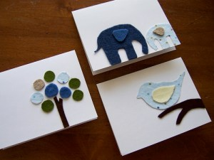 Cute Fabric Art Cards