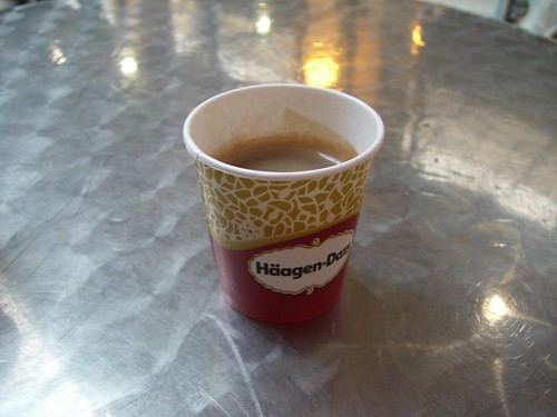 The very very cute looking espresso from the Hagen Daaz cafe in Gare du Nord!