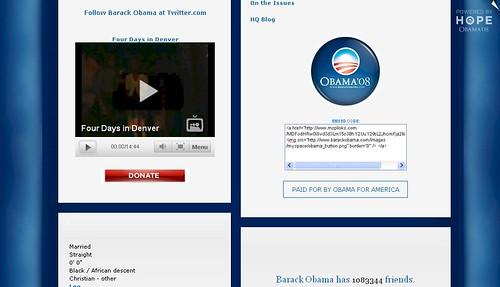 myspace.com/barackobama - Donate