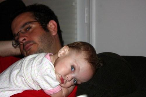 cuddling her favorite person