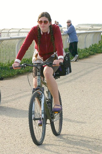 West Cliff Drive cyclist