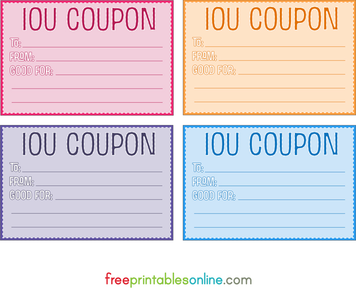 Free Printable Coupon Templates – Free Printable Vouchers Templates
