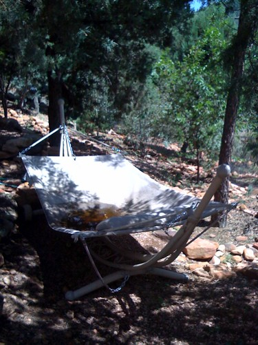 Hammock as rain gauge